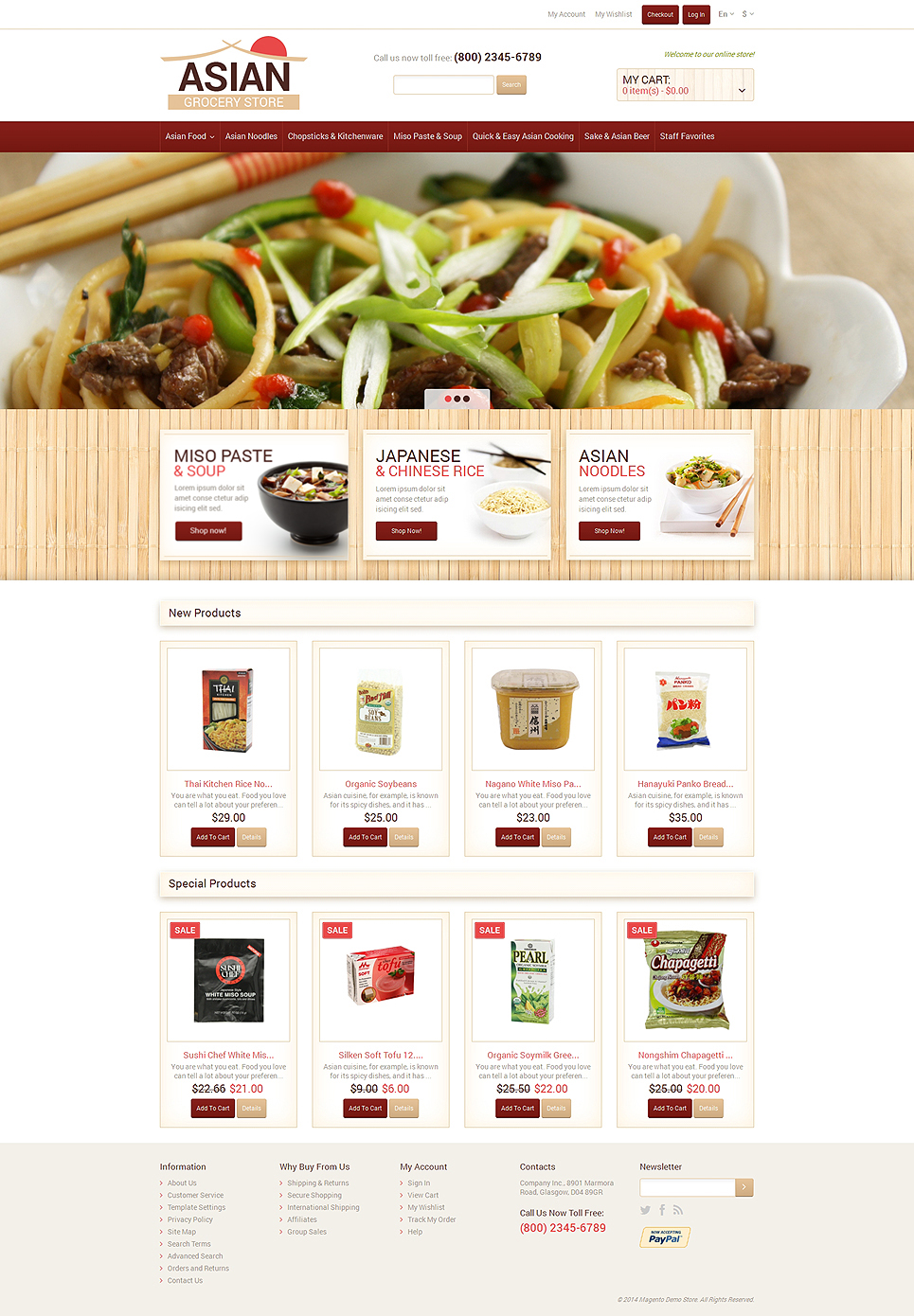 Eastern Food Shop Magento Theme (website template for ecommerce) Item Picture