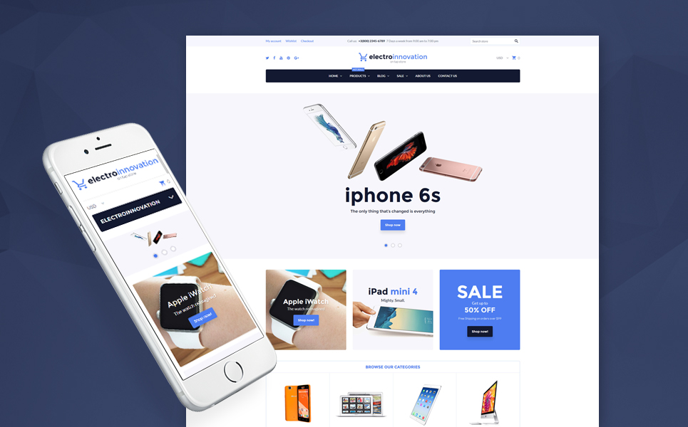 Electro Innovation (website template for ecommerce) Item Picture