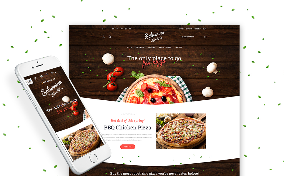 Saturnino (website template for ecommerce) Item Picture