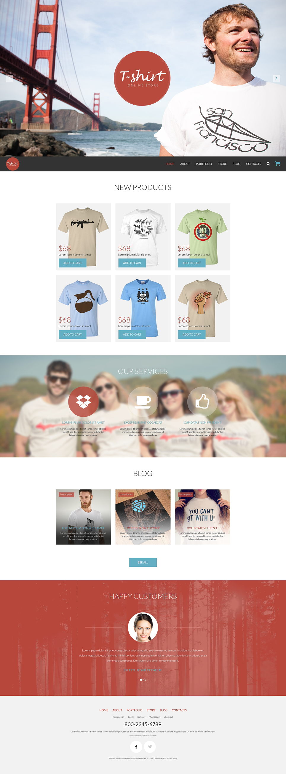 Any Taste TShirts WooCommerce Theme (WordPress theme for clothing or fashion stores) Item Picture