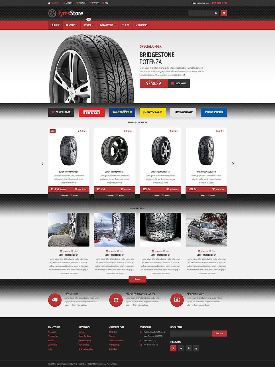 Auto Parts Store (WordPress theme for auto repair shops) Item Picture