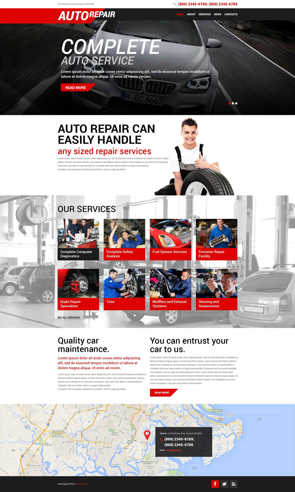 Auto Repair Service (WordPress theme for auto repair shops) Item Picture