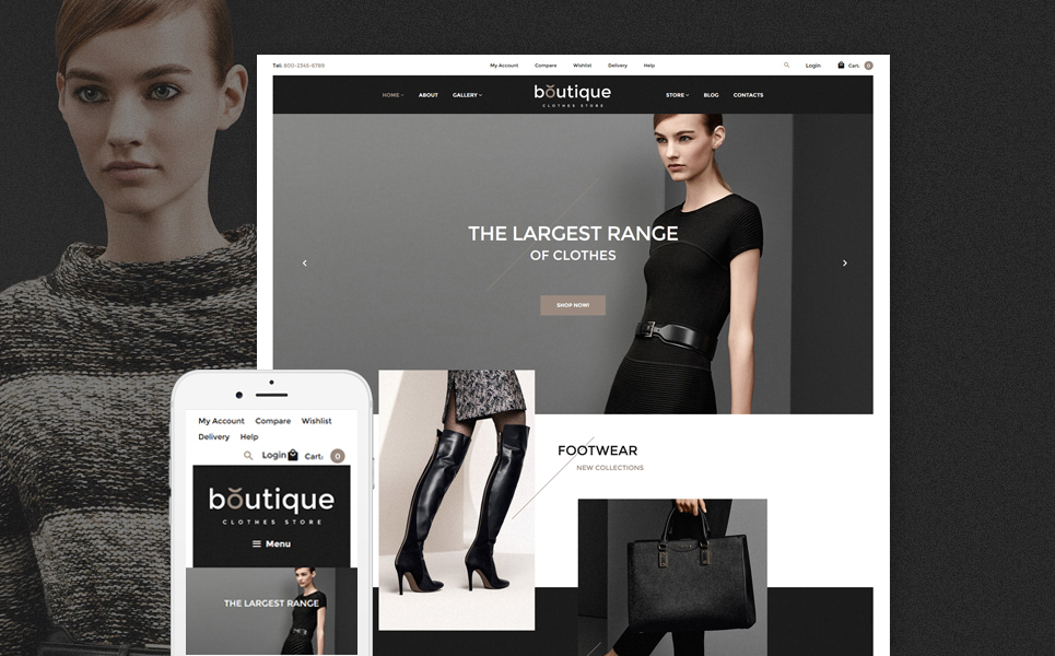Boutique WooCommerce Theme (WordPress theme for clothing or fashion stores) Item Picture