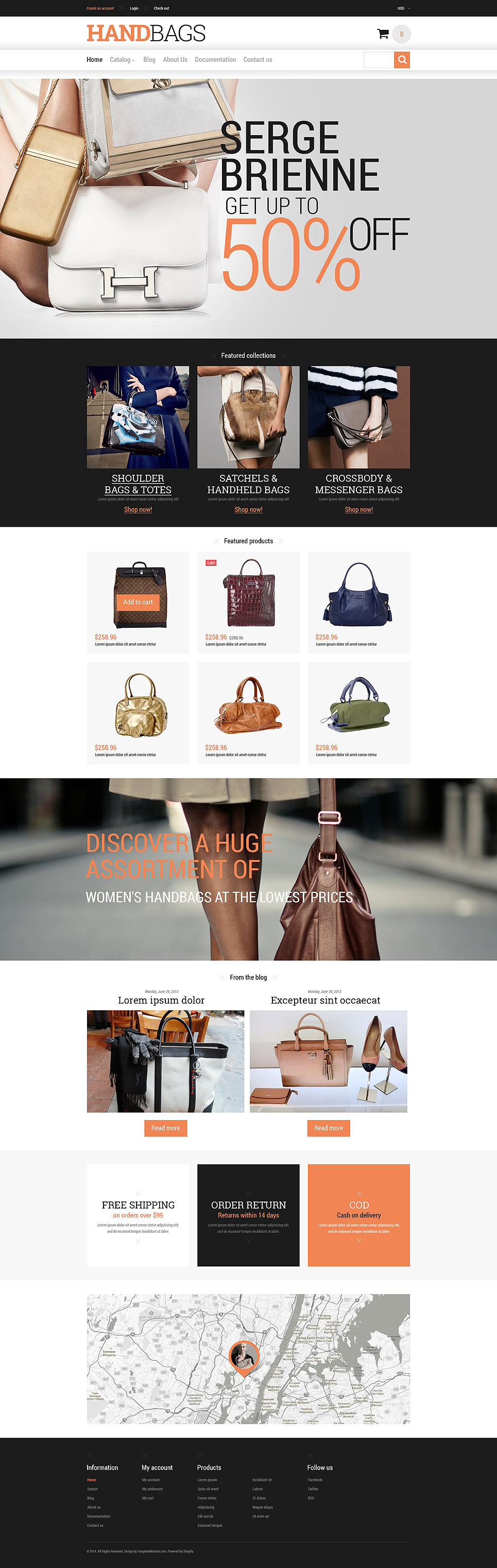 Branded Handbags Shopify Theme (jewelry and accessories Shopify theme) Item Picture