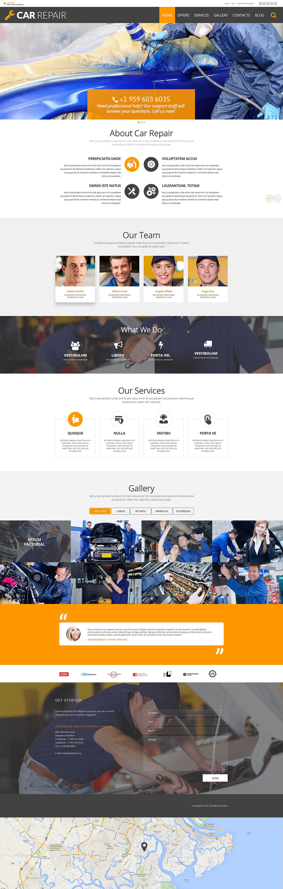 Car Repair (WordPress theme for auto repair shops) Item Picture
