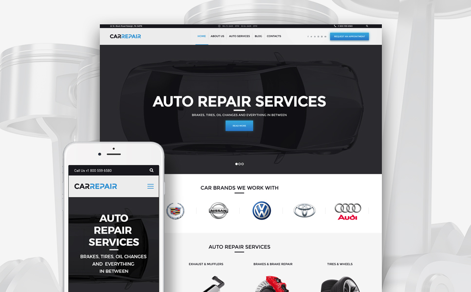 CarRepair (WordPress theme for auto repair shops) Item Picture