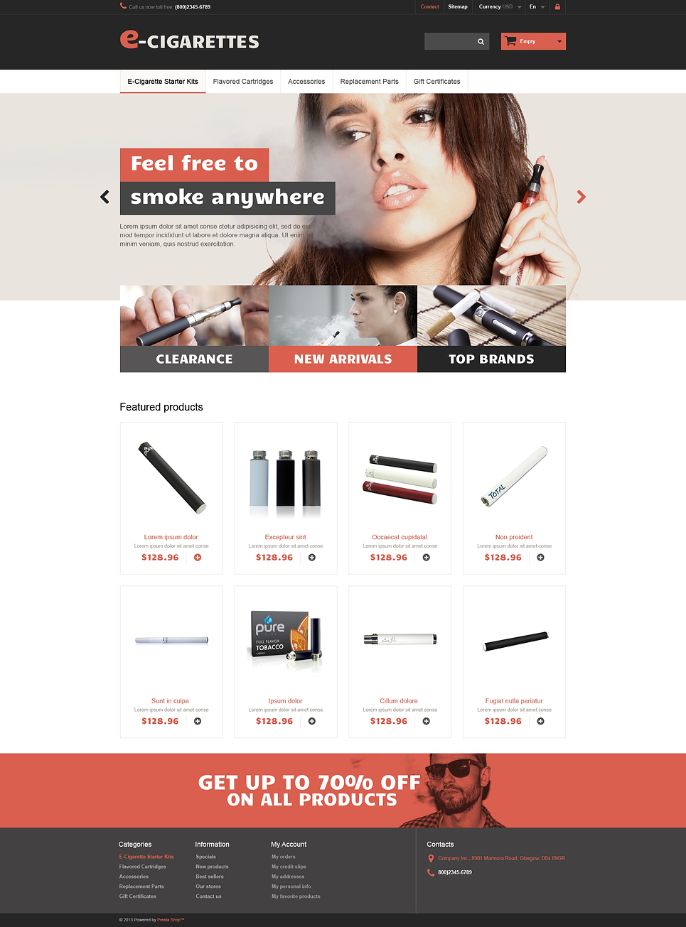 E-Cigarettes (online store template) Item Picture