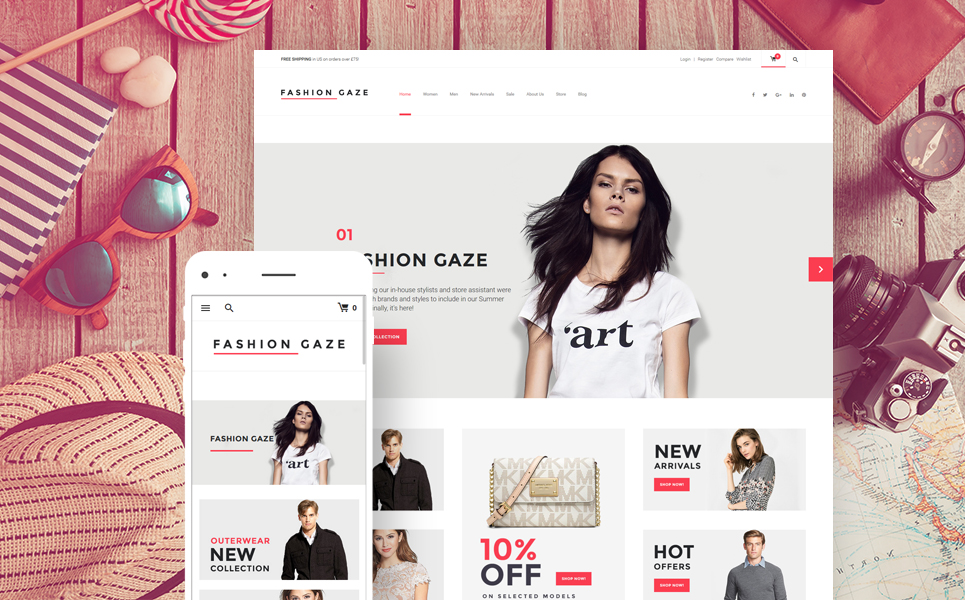 Fashion Gaze (WordPress theme for clothing or fashion stores) Item Picture