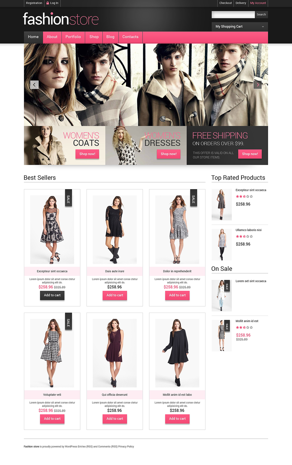 Getting Clothes Online WooCommerce Theme (WordPress theme for clothing or fashion stores) Item Picture