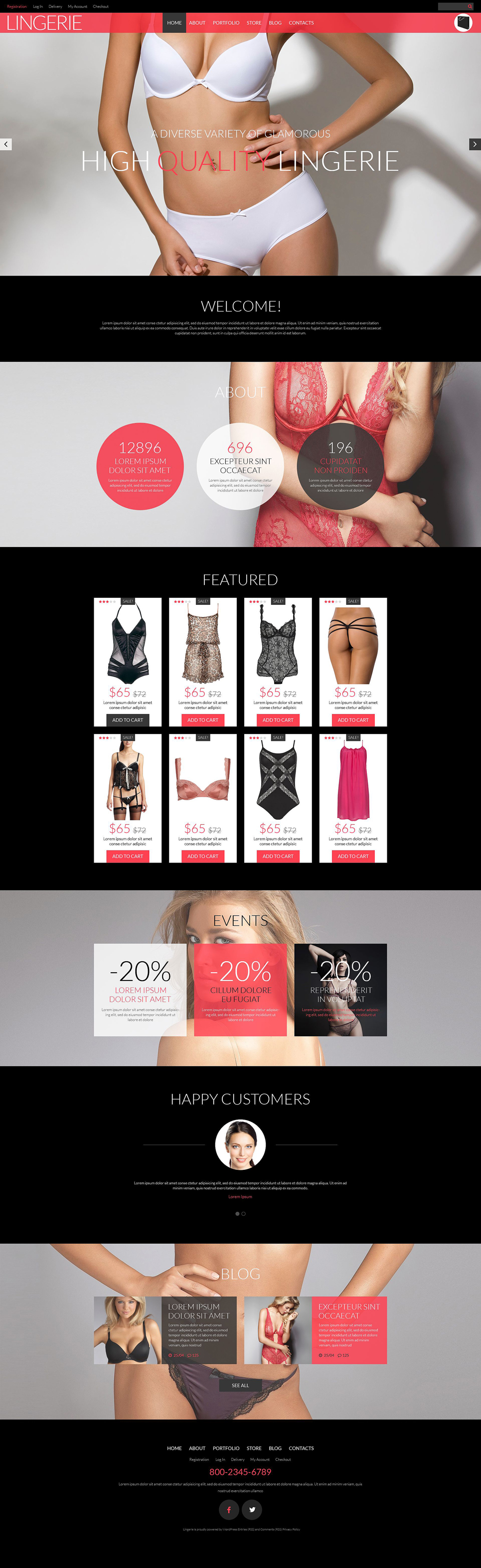 Lingerie Shop WooCommerce Theme (WordPress theme for clothing or fashion stores) Item Picture