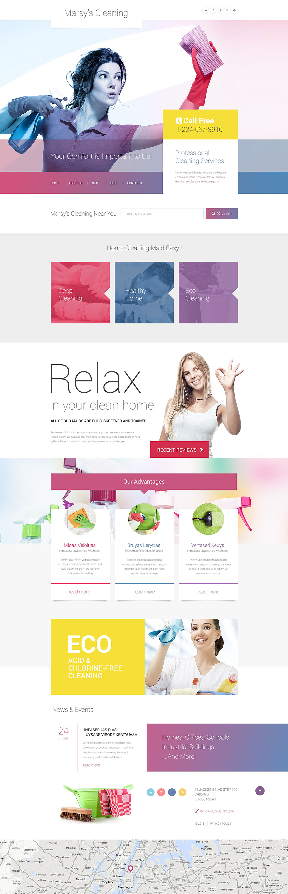 Marsy's Cleaning WordPress Theme (maid service WordPress theme) Item Picture