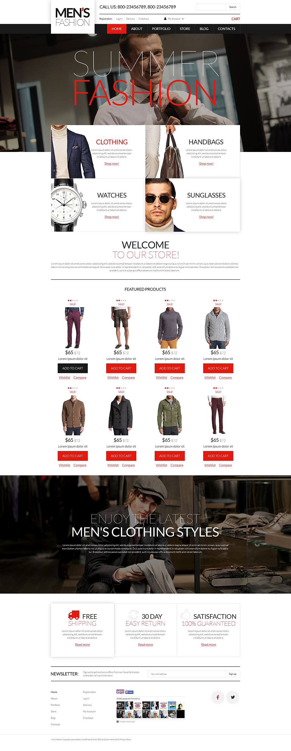 Men's Corporate Wear WooCommerce Theme (WordPress theme for clothing or fashion stores) Item Picture