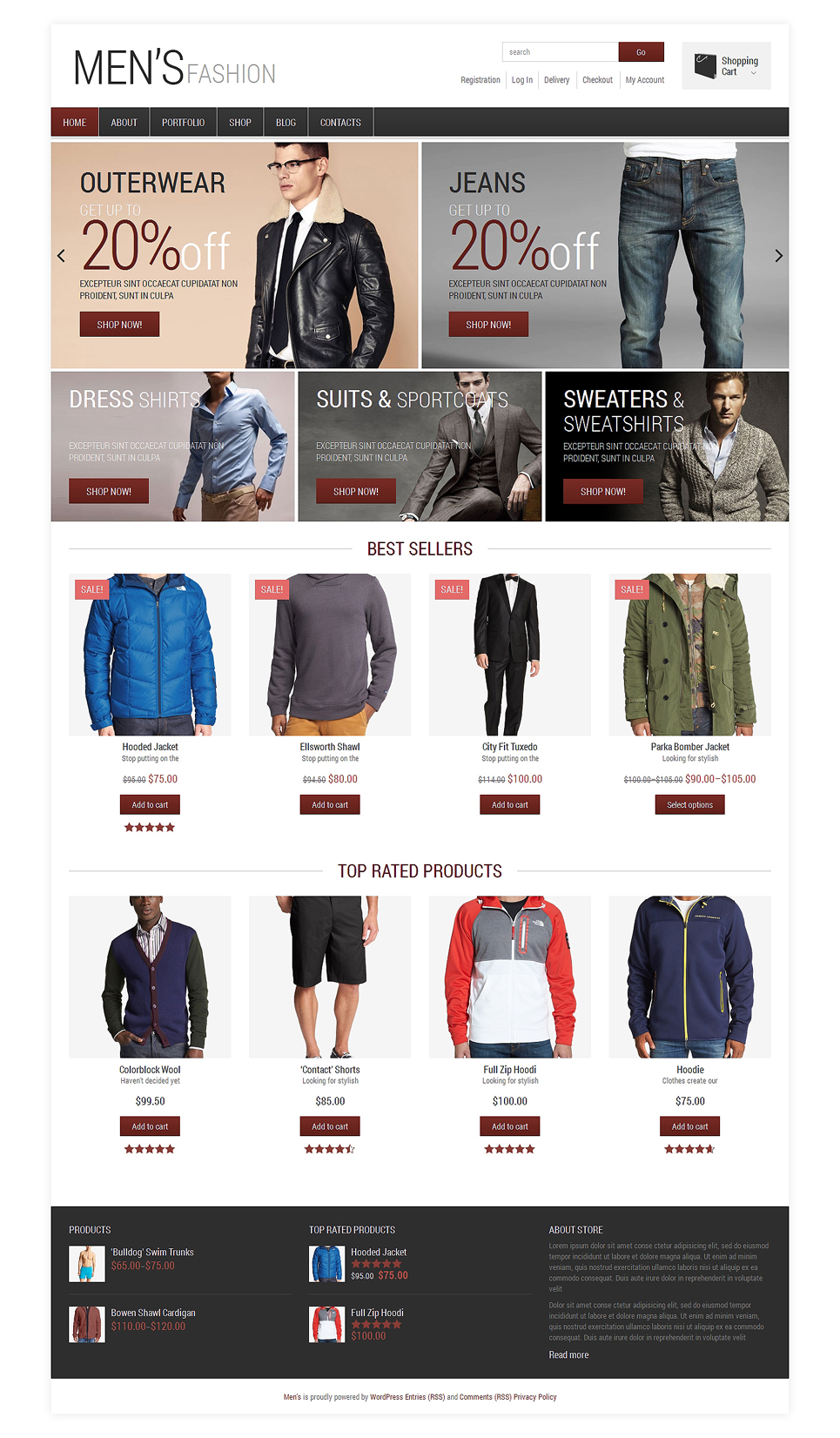 Men's Fashion WooCommerce Theme (WordPress theme for clothing or fashion stores) Item Picture