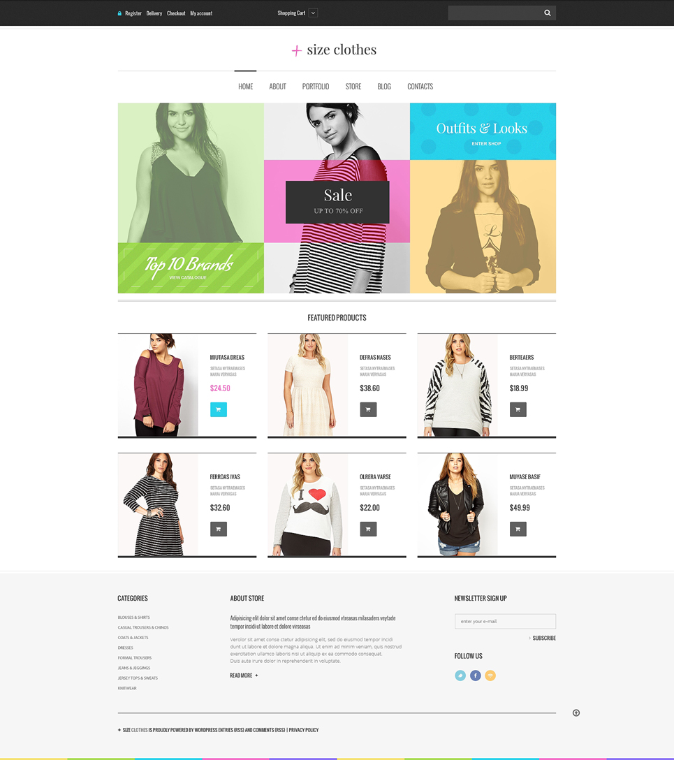 Plus Size Clothes WooCommerce Theme (WordPress theme for clothing or fashion stores) Item Picture