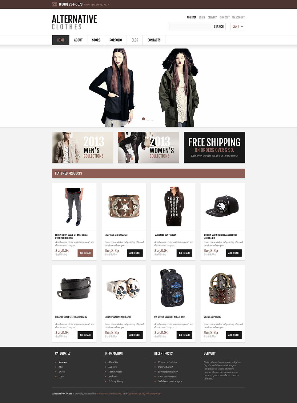 Responsive Alternative Store (WordPress theme for clothing or fashion stores) Item Picture