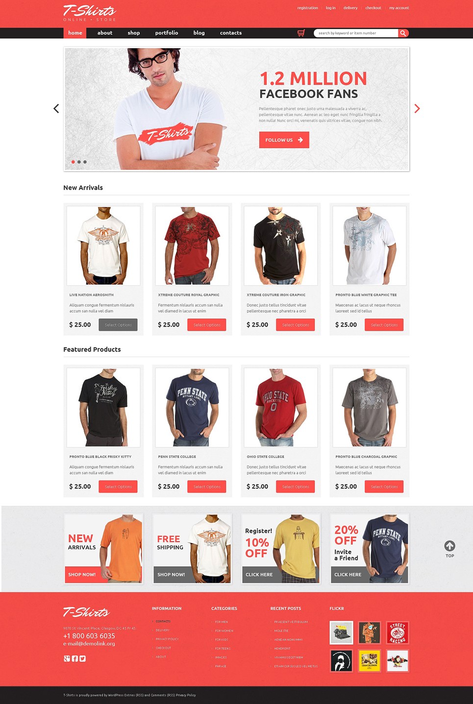 TShirts That Fit (WordPress theme for clothing or fashion stores) Item Picture