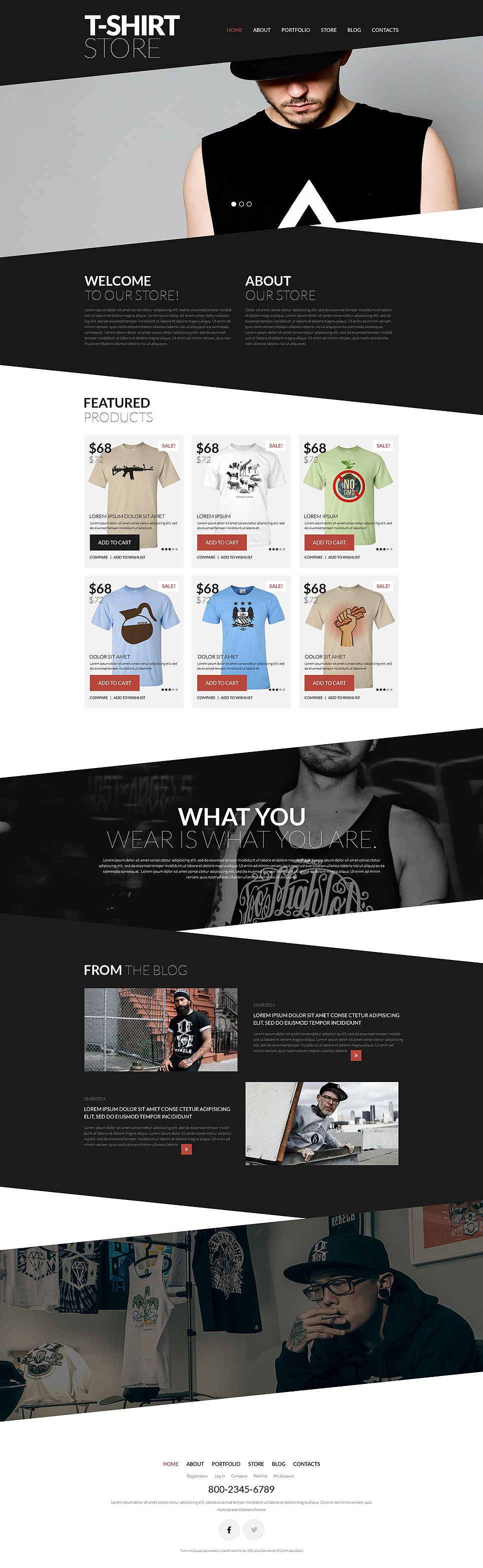 Trendy TShirts WooCommerce Theme (WordPress theme for clothing or fashion stores) Item Picture