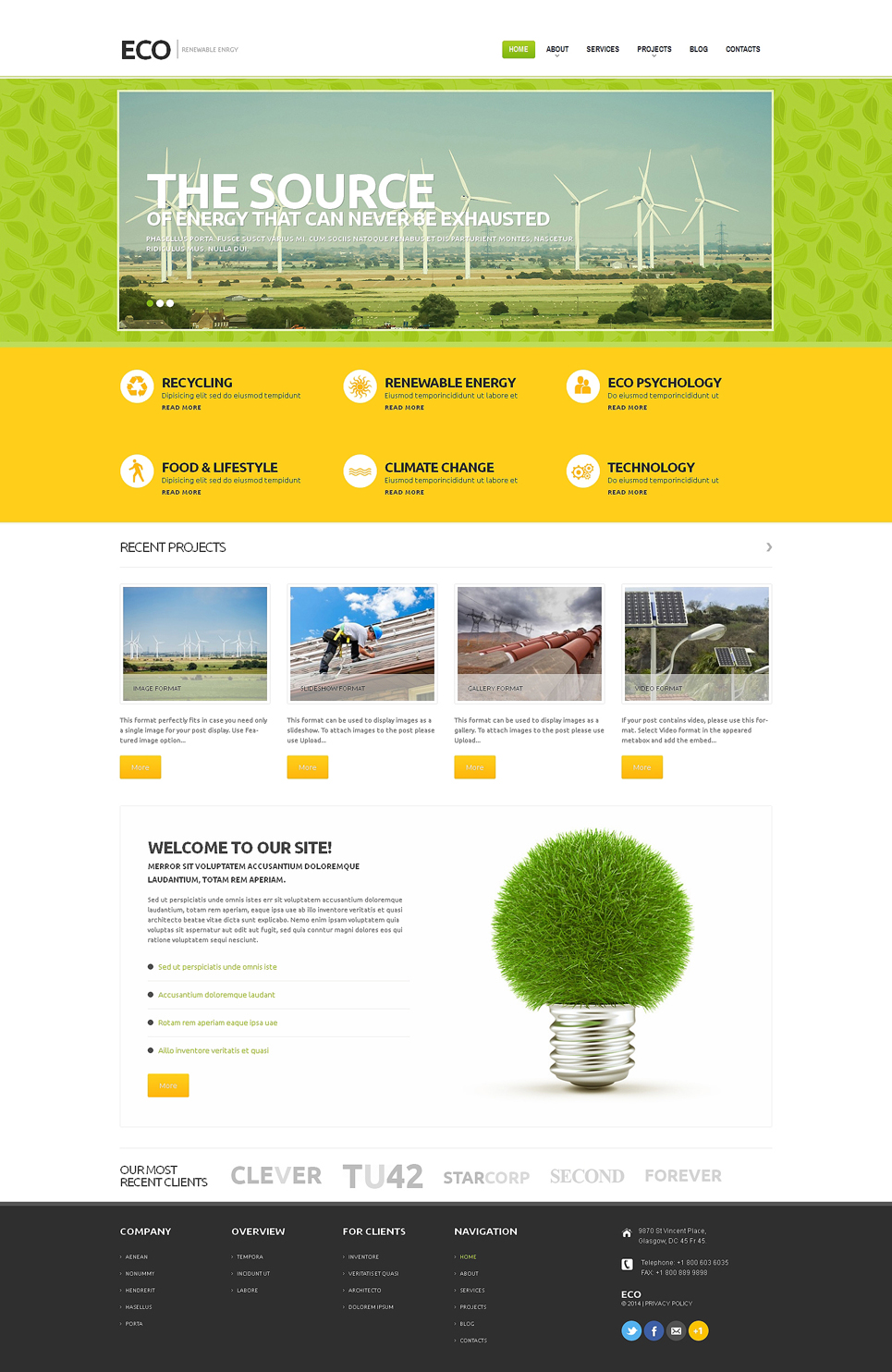Wind Energy (WordPress theme) Item Picture