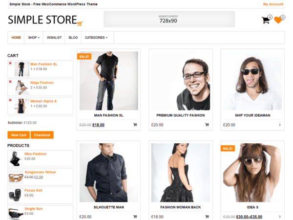 Simple Store (WordPress theme for clothing or fashion stores) Item Picture