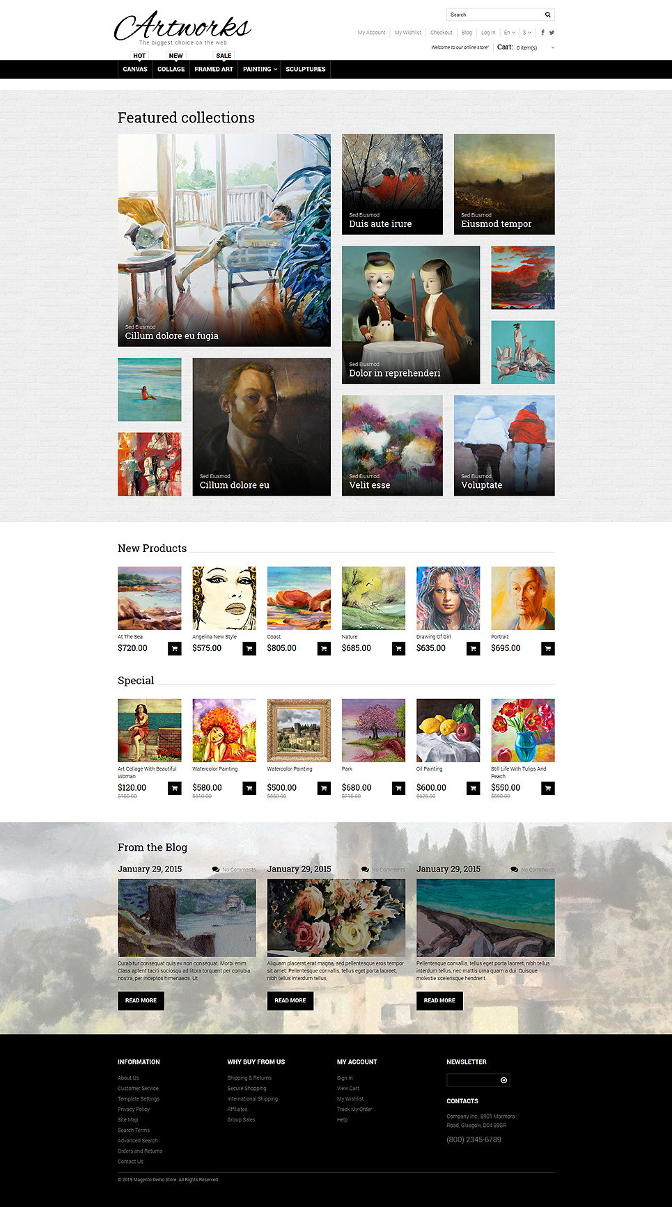 Art Store (theme for Magento ) Item Picture