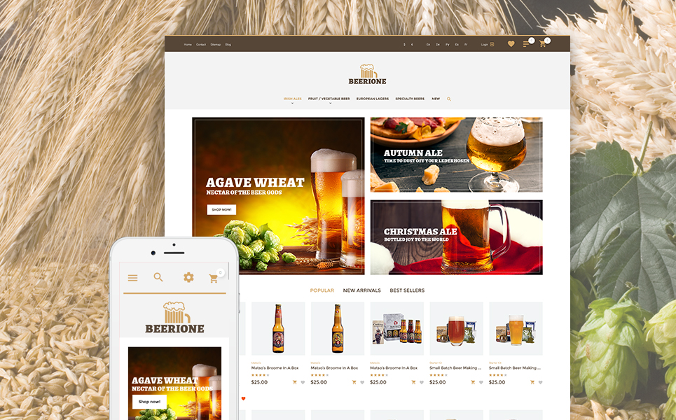 Beerione (template for PrestaShop) Item Picture