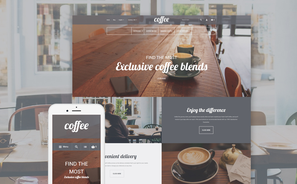 Coffee Shop (theme for Magento ) Item Picture