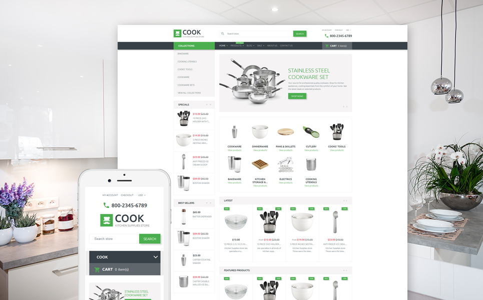 Cook (theme for Shopify) Item Picture
