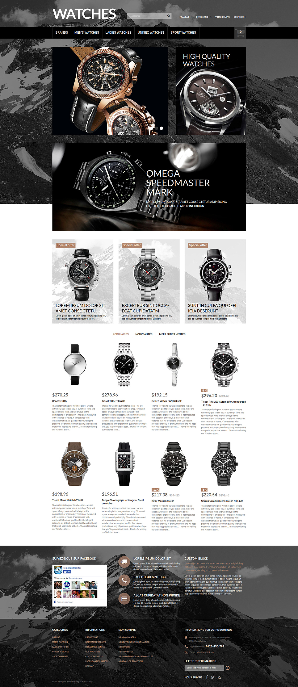 Elegant Timepieces (ecommerce theme for PrestaShop) Item Picture