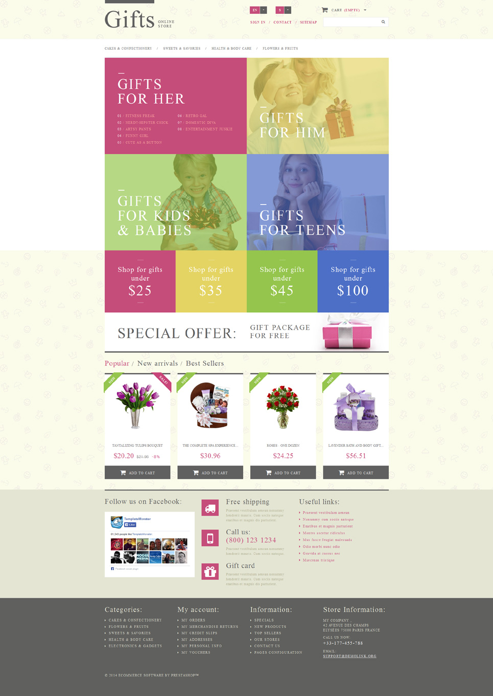Gift Shop (template for PrestaShop) Item Picture