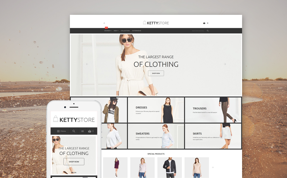 KettyStore (theme for Magento ) Item Picture