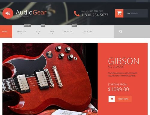 4+ Awesome Audio Gear and Musical Instrument Ecommerce Templates (Music Audio Gear Shopify Themes)