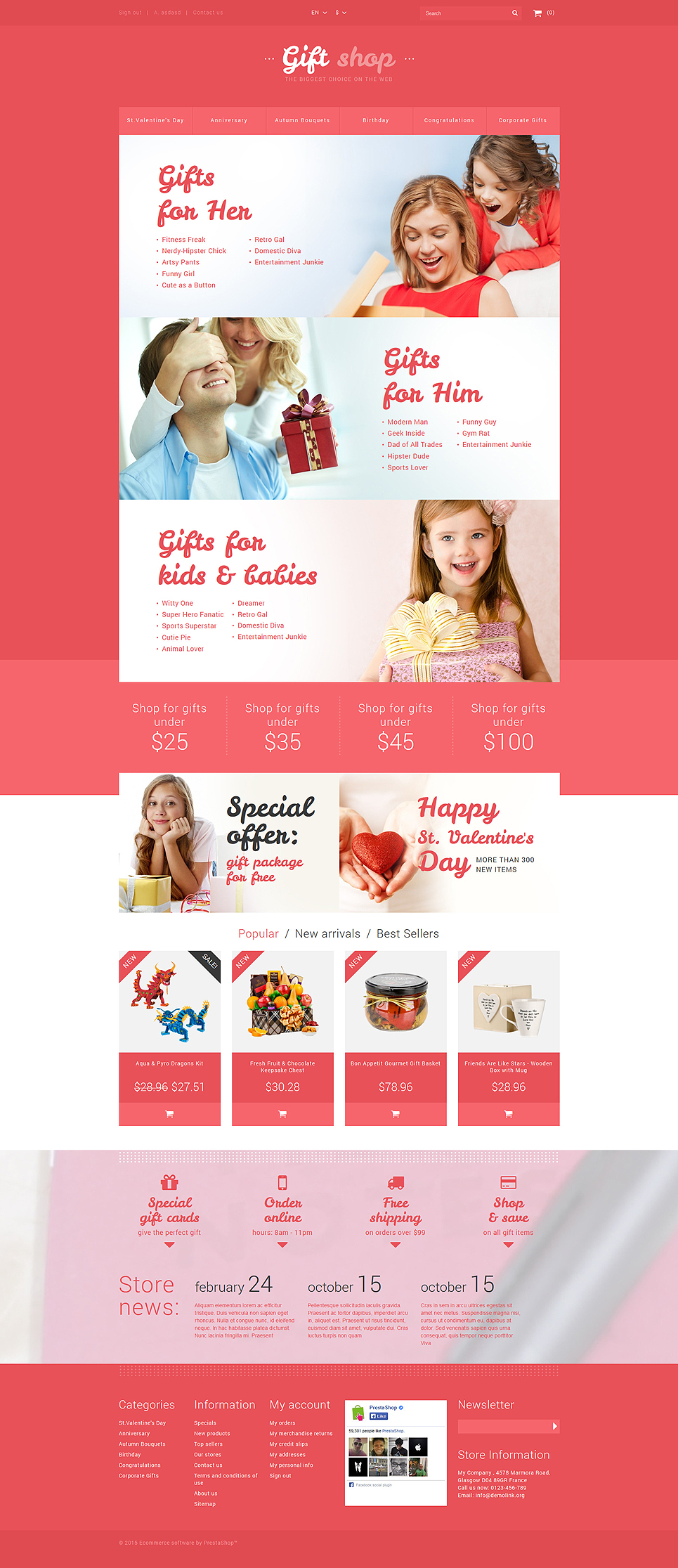 Online Gifts Shop (template for PrestaShop) Item Picture