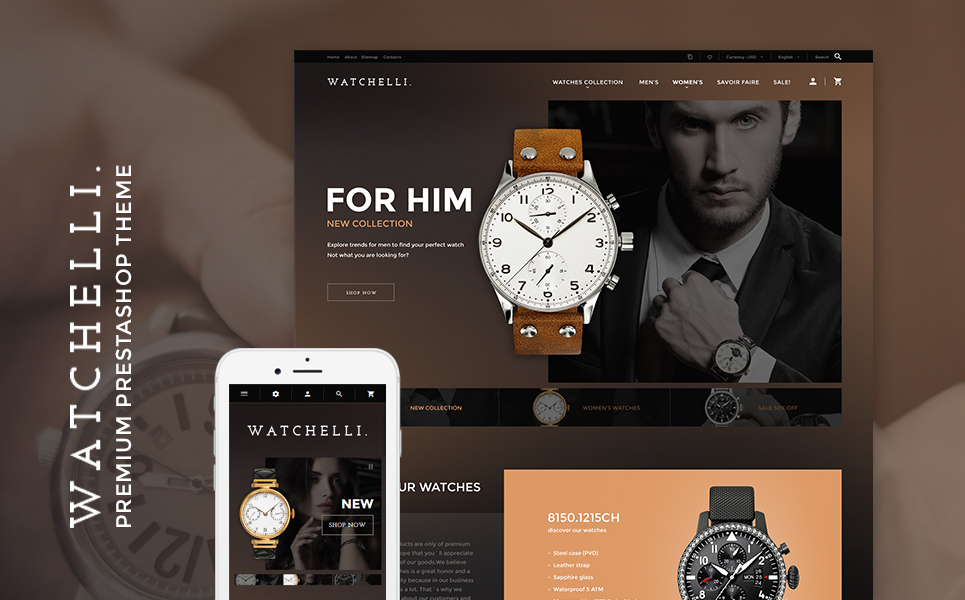 Watchelli (ecommerce theme for PrestaShop) Item Picture