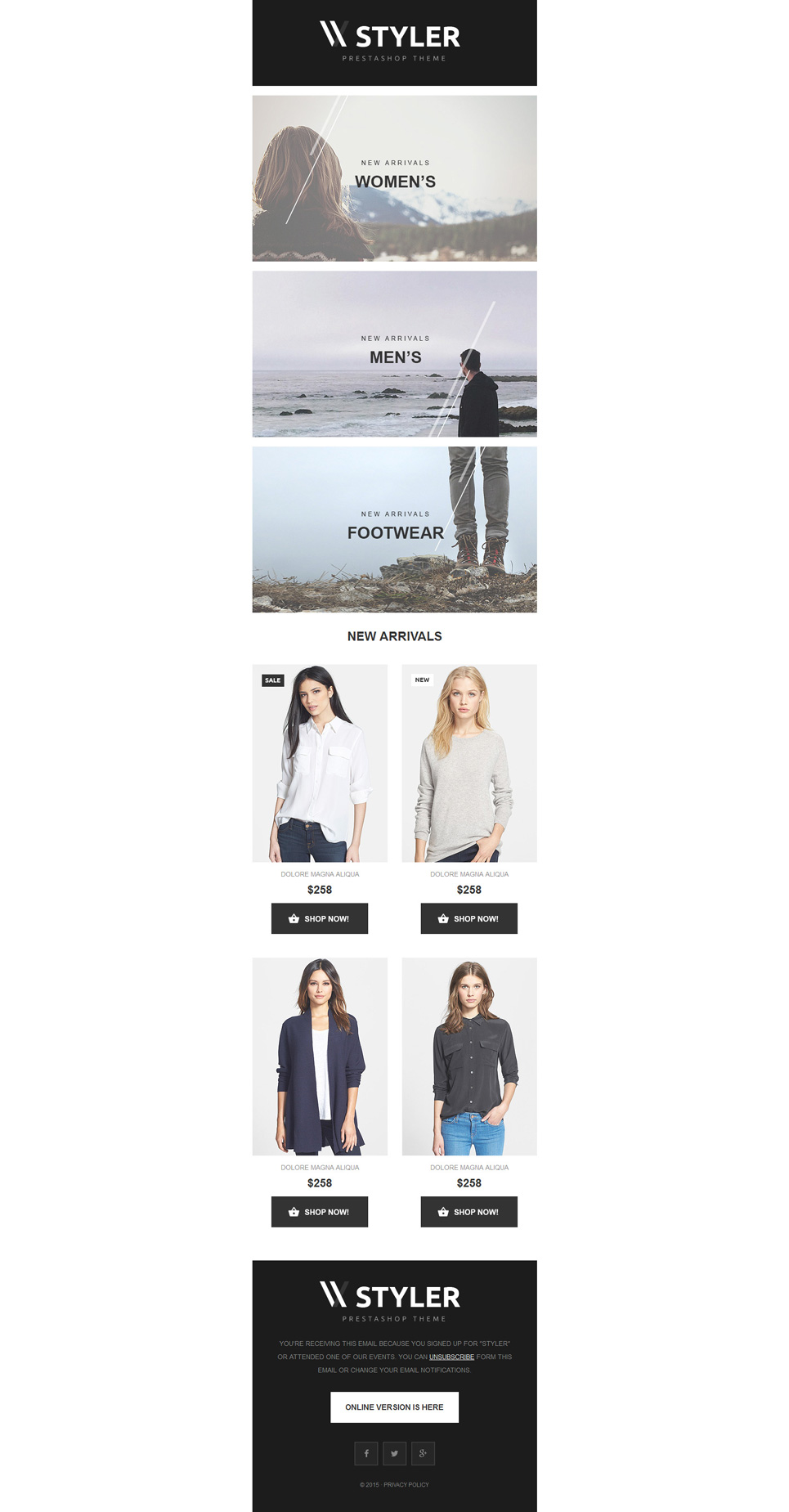 Apparel (responsive newsletter template) Item Picture