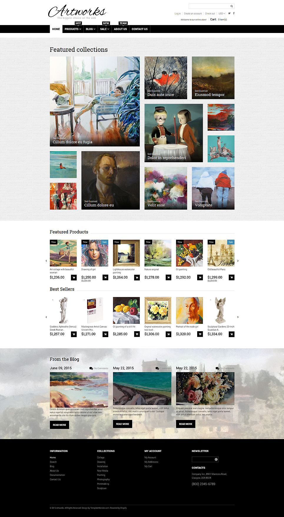 Art Web (ecommerce Shopify theme) Item Picture