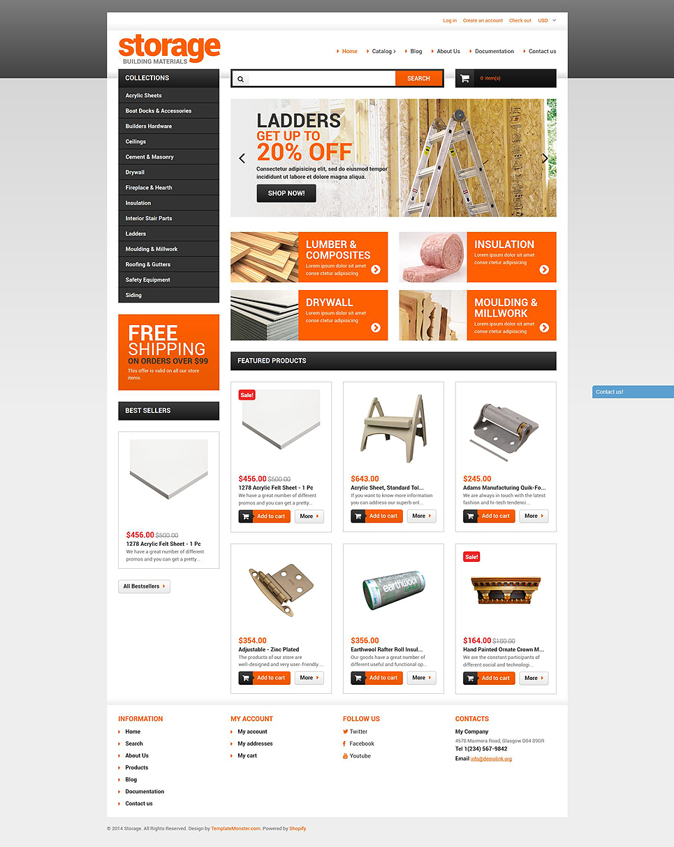 Building Materials Store (Shopify theme) Item Picture