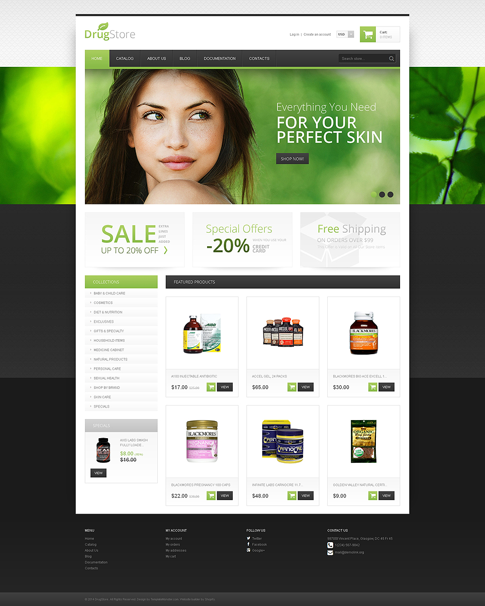 Drug Store (theme for Shopify) Item Picture
