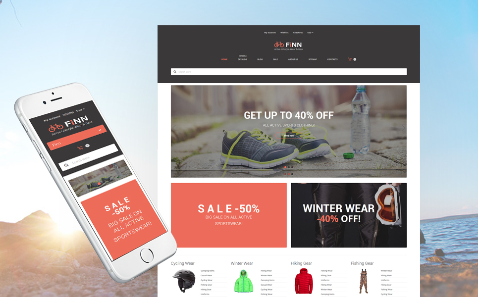 Extreme Sports Store (theme for Shopify) Item Picture