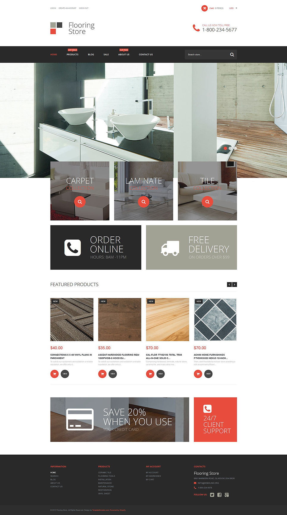 Flooring Store (Shopify ecommerce theme) Item Picture