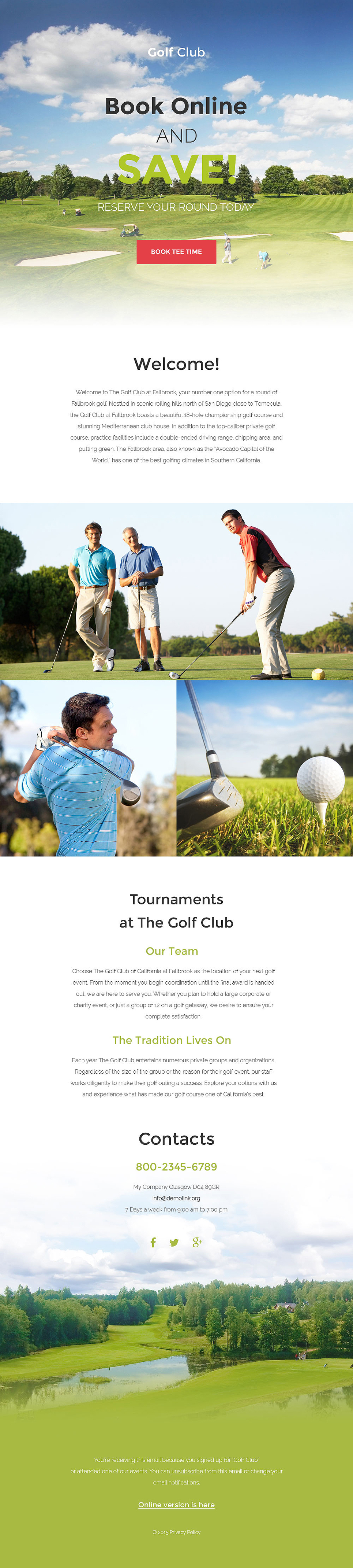 Golf (newsletter template) Item Picture
