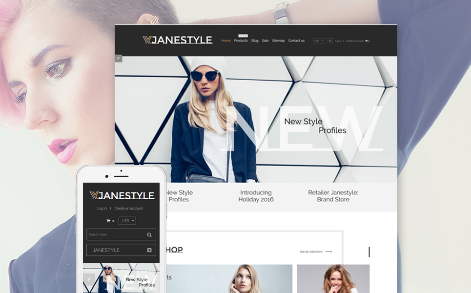 JaneStyle (theme for Shopify) Item Picture