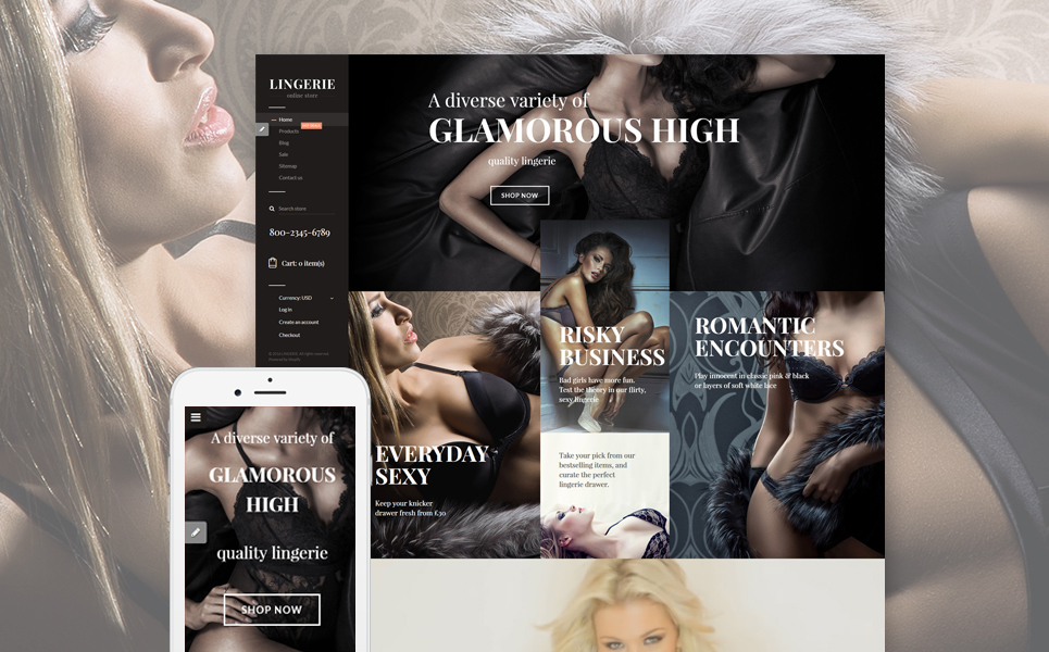 Lingerie Store (Shopify theme) Item Picture