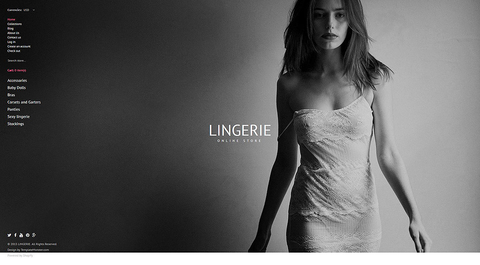 Lingerie Shop (Shopify theme for ecommerce sites) Item Picture