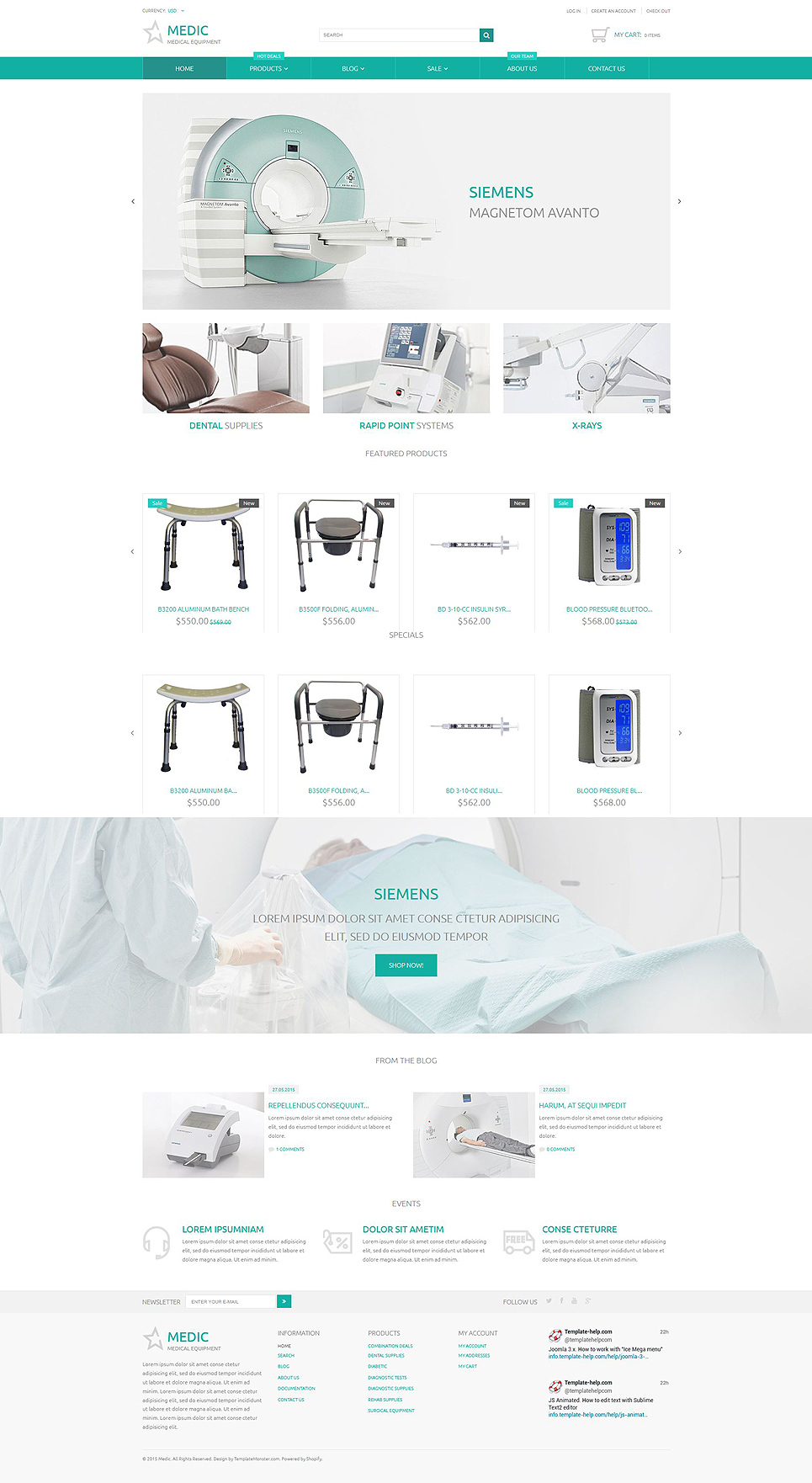 Medical Equipment (Shopify ecommerce theme) Item Picture