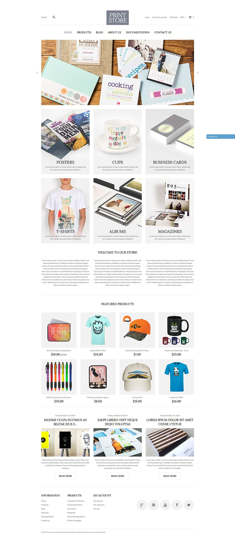 Modern Print Solutions (Shopify theme for ecommerce) Item Picture