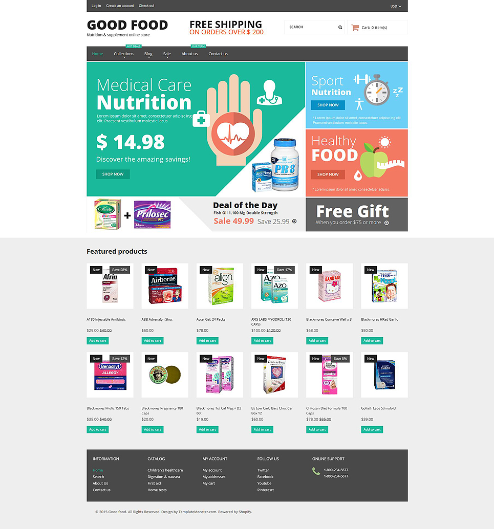 Nutrition Store (ecommerce website theme) Item Picture