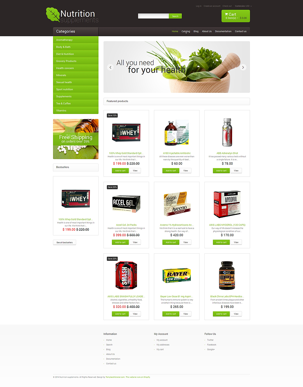 Nutrition Store (ecommerce theme) Item Picture