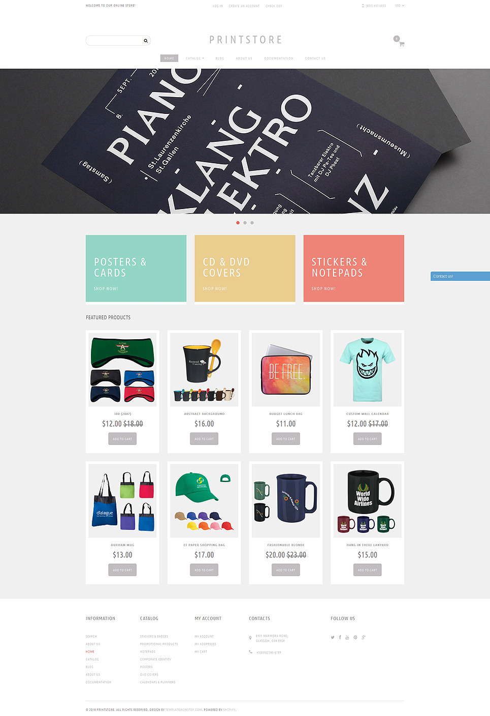 Online Print Shop  (theme for Shopify) Item Picture