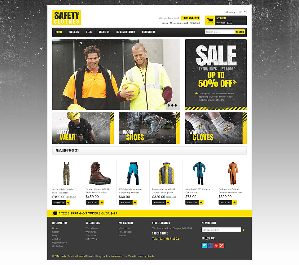 High Vis Safety Gear Store (theme for Shopify) Item Picture