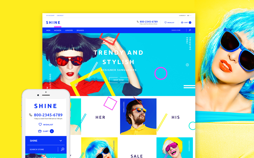 Shine (Shopify theme for ecommerce sites) Item Picture